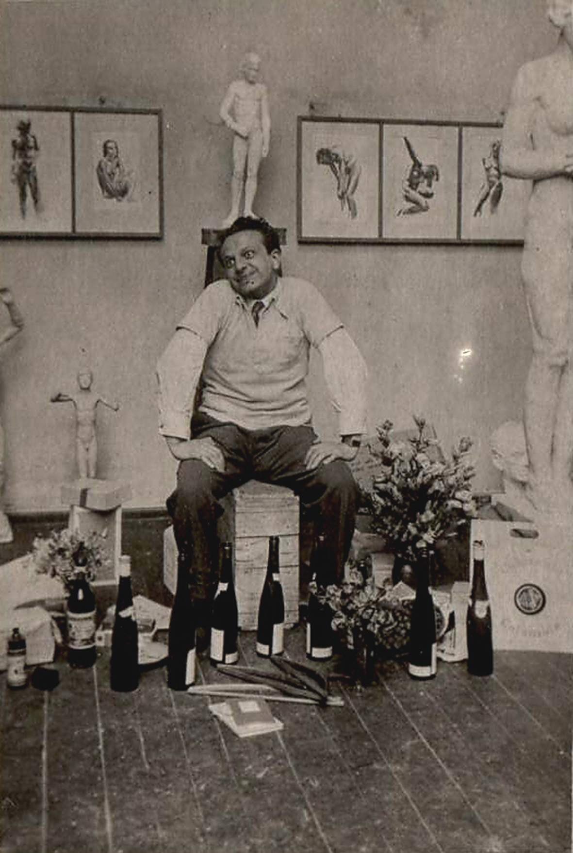 Ivo 1933 im Atelier in Berlin